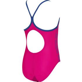 arena Logo Traje Baño Una Pieza Niñas, rosa